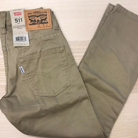 fa6c48dad Levi's Bottoms | Levis Boys 511 Slim Stretch Jean Beige Nwt | Poshmark
